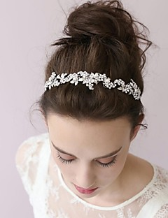 Women's Pearl / Rhinestone / Alloy / Basketwork Headpiece-Wedding / / Flowers / Head Chain / Hair Tool