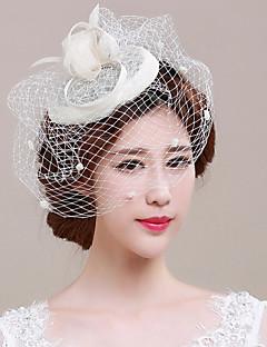 Women's Tulle / Flax Headpiece-Wedding / Special Occasion Fascinators / Birdcage Veils 1 Piece