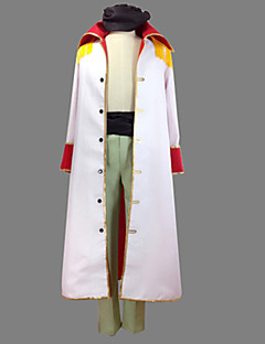 Inspired by One Piece Edward Newgate Anime Cosplay Costumes Cosplay Suits Patchwork White Coat Pants Belt For