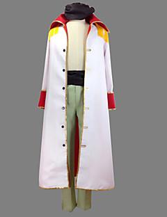 Вдохновлен One Piece Edward Newgate Аниме Косплэй костюмы Косплей Костюмы Пэчворк Белый Пальто / Брюки / Пояс