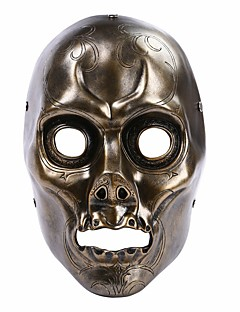 Mask Bronze Death Eater Resin Mask Hand Made Horror Cosplay Halloween Skull Party Mask Halloween/Christmas/New Year