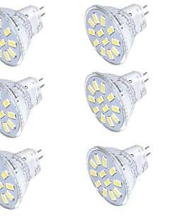 4 GU4(MR11) LED-spotlys MR11 15 SMD 5733 350 lm Varm hvid / Kold hvid Dekorativ 9-30 V 6 stk.