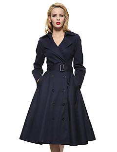 Maggie Tang Women's 50s VTG Retro Rockabilly Hepburn Pinup Swing Business Dress Parka 586