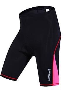 Wosawe® Bermudas Acolchoadas Para Ciclismo MulheresRespirável / Secagem Rápida / A Prova de Vento / Compressão / Tiras Refletoras /