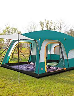 CAMEL >8 persoane Cort Triplu Cort de Familie Trei camere Cort de campare >3000mmBine Ventilat Impermeabil Rezistent la Ultraviolete