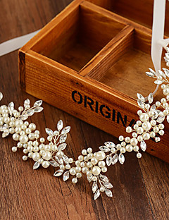 Bride's Flower Fresh Pearl Forehead Wedding Hair Accessories Headbands 1 PC