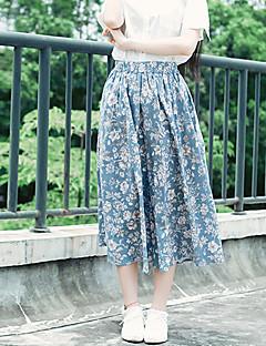 Polyester-Micro-elastisch-Street chic-Midi-Vrouwen-Rokken