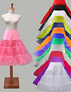 Slips  Slip / Ball Gown Slip Knee-Length 3 Lycra  OrganzaWhite Black Red Ivory  Blue  Purple  Green Pink  Yellow