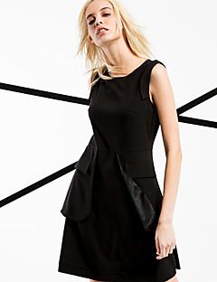 ARNE® Kadın Yuvarlak Yaka Kolsuz Diz Üstü Elbiseler-6231