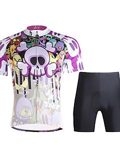 ILPALADINO Camisa com Shorts para Ciclismo Homens Manga Curta Moto Conjuntos de RoupasSecagem Rápida Resistente Raios Ultravioleta