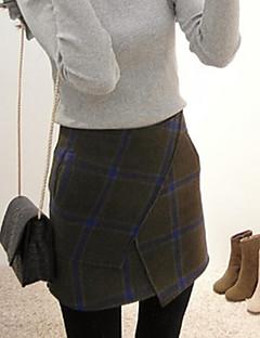 Damen Röcke - Einfach Übers Knie Baumwolle Mikro-elastisch