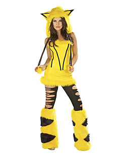 Animal Costumes / Bunny Girls Halloween / Christmas / Carnival Yellow Vintage Top / Skirt / Socks / Hats