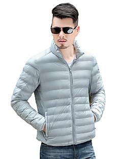 Pánské Polyester Jednobarevné Obyčejný Dlouhý kabát Kabát Dlouhý rukáv