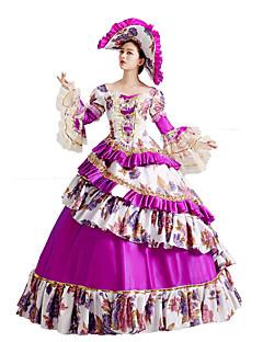 One-Piece/Dress Gothic Lolita / Sweet Lolita / Classic/Traditional Lolita / Punk Lolita Steampunk® Cosplay Lolita Dress Purple Floral