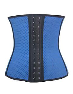 Ženy Korzet pod prsa Noční prádlo Sportovní Jednobarevné-Polyester / Spandex Béžová / Modrá / Černá Dámské