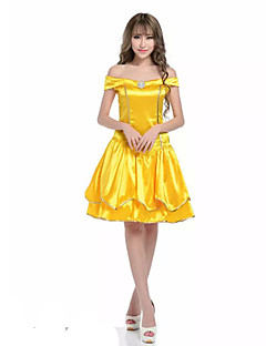 Costumes Fairytale Costumes Halloween Yellow Patchwork Terylene Dress / More Accessories