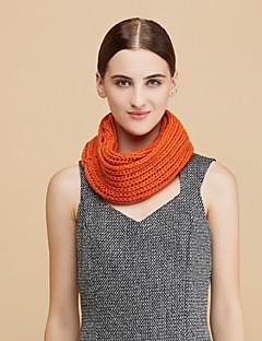 Damen Freizeit Wolle Schal,Infinity-Schal einfarbig Winter Weiß / Braun / Gelb / Grau / Orange