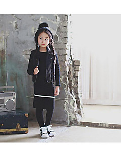 Girl's Going out Solid VestOthers Fall Black