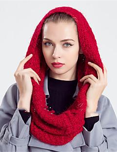 Damen Retro / Freizeit Wollmischung Schal,Rechteck / Infinity-Schal einfarbig Herbst / Winter