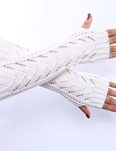 женские зимние шерсти вязание треугольник выдолбить твердые цветные перчатки