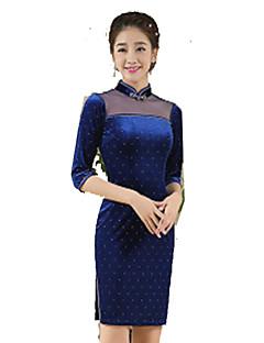 Szoknya Klasszikus és hagyományos Lolita Cosplay Lolita ruhák Kék Régies (Vintage) 3/4-es ujj Rövid hosszú Mert Selyem