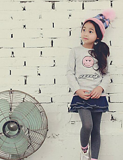 Girl's Casual/Daily Solid TeePolyester Winter / Spring / Fall Gray