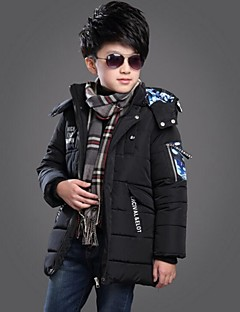 Boy's Casual/Daily Print Down & Cotton PaddedPolyester Winter Black / Blue / Red