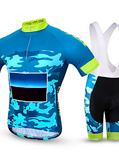 Sports Cycling Jersey with Bib Shorts Men's Short Sleeve Bike Breathable / Quick Dry / Comfortable Clothing Sets/Suits Coolmax Classic