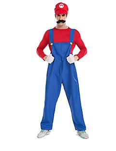Costumi Cosplay / Vestito da Serata Elegante Costumi da supereroi Feste/vacanze Costumi Halloween Rosso / Blu Tinta unita Top / Pantaloni