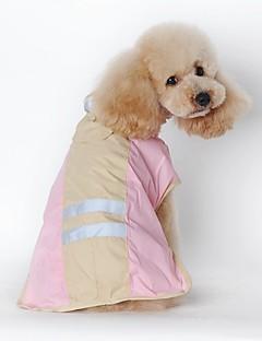 猫用品 犬用品 レインコート 犬用ウェア 冬 春/秋 ゼブラプリント 防水 ブルー ピンク