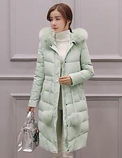 ארוך-פשוטה / חמוד / סגנון רחוב-שרוול ארוך-מעיל פוך(כותנה)