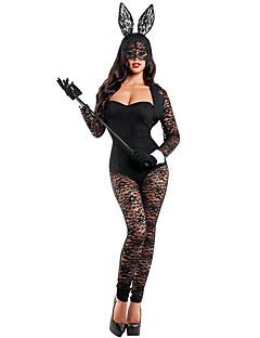 Costumes Bunny Girls Halloween Black Solid Terylene Leotard/Onesie / More Accessories