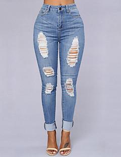 Kvinders Street Jeans Bukser Elastisk Bomuld