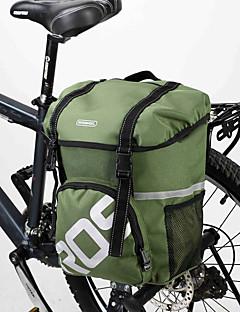 ROSWHEEL® Saco da bicicleta 15LMala para Bagageiro de Bicicleta/Alforje para Bicicleta / Bolsa de OmbroÁ Prova-de-Água / Camurça de Vaca