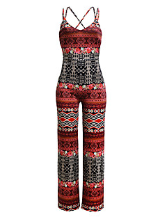 Uden ærmer Kvinders Boheme Jumpsuits Mikroelastisk Polyester