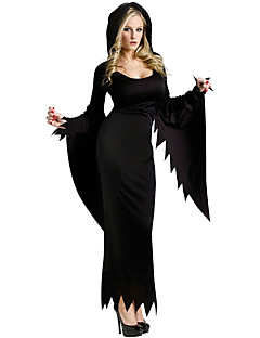 Costumes Angel & Devil Halloween Black Solid Terylene Dress / More Accessories
