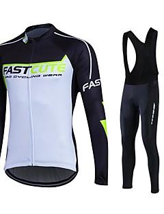 Fastcute Camisa com Calça Bretelle Homens Mulheres Unisexo Manga Longa Moto Meia-calça Tights Bib Calças Moletom Jaquetas em Velocino /