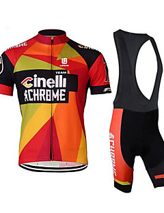 Sports BikeCycling Clothing Sets Suits Men's Short SleeveBreathable Wearable  Anti-skidding  4D Pad  Sweat-wicking