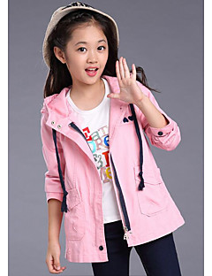 Girl's Casual/Daily Solid BlouseCotton Spring / Fall Pink