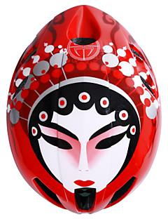 Peking Opera Facial Makeup Women's / Men's Road Bike Helmet 11 Vents Cycling / Road Cycling