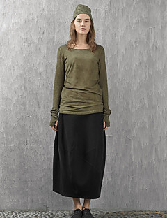 solide skirtssimple maxi noir rizhuo femmes