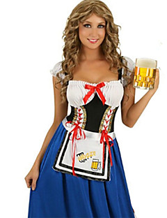 Cosplay Costumes / Party Costume Halloween / Oktoberfest Blue Patchwork Terylene Dress / More Accessories Halloween/Christmas/New Year