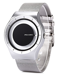 Herren Kleideruhr Modeuhr Armbanduhr Einzigartige kreative Uhr Quartz / Edelstahl Band Cool Schwarz Weiß SilberSchwarz Schwarz/Silber