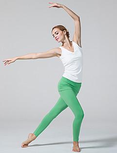 Штаны для йоги Велоспорт Колготки Дышащий Естественный Стреч Спортивная одежда Белый Зелёный Чёрный Жен.Йога Пилатес Аэробика и фитнес