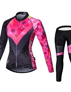 MALCIKLO® Calça com Camisa para Ciclismo Mulheres Manga Comprida MotoRespirável / Secagem Rápida / Zíper Frontal / Vestível / Alta