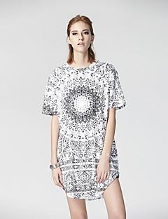 Herz Soul® Damen Rundhalsausschnitt Kurze Ärmel T-Shirt Weiß-26AD20835