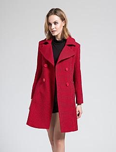 BORME® 여성 셔츠 카라 긴 소매 트렌치 코트 실버-Y061