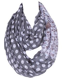 Damer Vintage / Sødt / Fest / Casual Bomuldsblanding / Polyester Halstørklæde-Prikker Uendelighedshalstørklæde