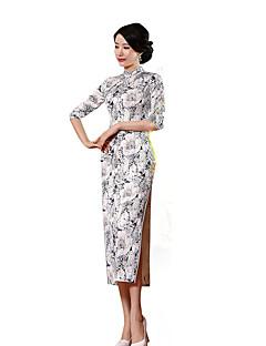 Szoknya Klasszikus és hagyományos Lolita Cosplay Lolita ruhák Fehér / Fekete Régies (Vintage) Rövid ujjú Hosszú hossz Mert Selyem