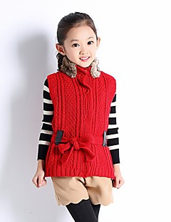Girl's Casual/Daily Solid Sweater & CardiganWool Winter / Fall Red / White